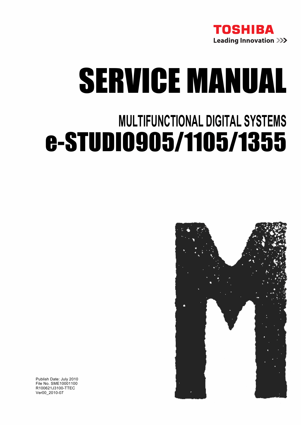 Toshiba e-studio 160 service manual